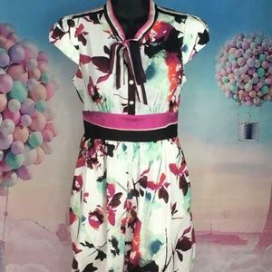 Rachel Roy US Size 0 Multi-Color Floral Dress